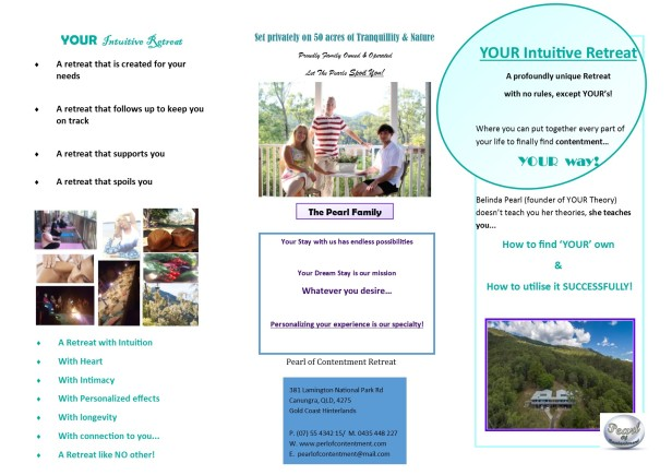 YOUR intuitive retreat flyer front